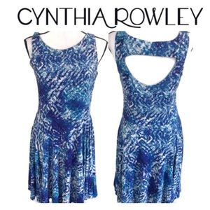 Cynthia Rowley Blue Backless Sundress Size Med
